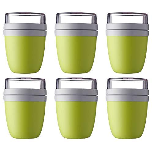Mepal 'Ellipse' Lunchpot to go 500 ml & 200 ml, Farbe & Stückzahl:Latin Lime (6 Stück)