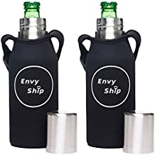 2 Pack Best Beer Bottle Saver | Insulated Double Walled Stainless Steel | Beer Bottle Holder| Inner Can Coolie |Beer Opener| Keeps Drinks Frosty| Perfect For Tailgating & Camping|Beer Cooler