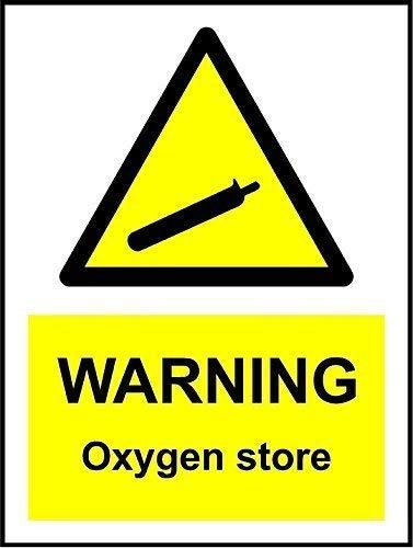 TammieLove señal de Advertencia de oxígeno para Tienda de campaña para Exterior e Interior de Metal 8 x 12 Pulgadas