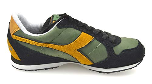 Diadora Scarpa Sneaker Uomo Verde E Marrone Art. K_Run L 159863 01 C5532 40 EU - 7 USA - 6,5 UK Verde Marrone - Green Brown