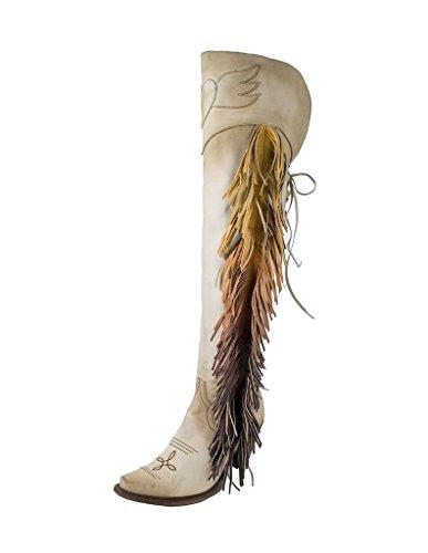 Junk Gypsy Women's by Lane Spirit Animal Tall Boot Snip Toe Cream 9 M