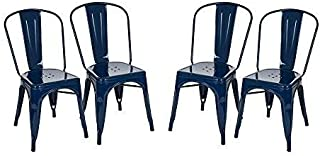 Glitzhome Metal Side Chairs, 17.72