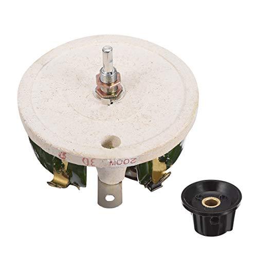 uxcell 200W 30R Ohm Wirewound Ceramic Potentiometer Variable Rheostat Resistor with Knob