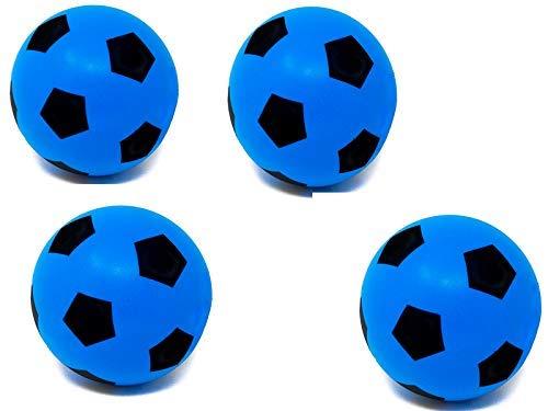 E-Deals Bolas de espuma de 20 cm, 4 unidades, color azul