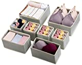 Kootek 8 Pack Drawer Organizers for Clothing, Dresser Drawer Organizer Clothes Fabric Foldable Dividers, Cabinet Closet Organizers and Storage Boxes for Clothes, Underwear, Bras, Lingerie, Socks