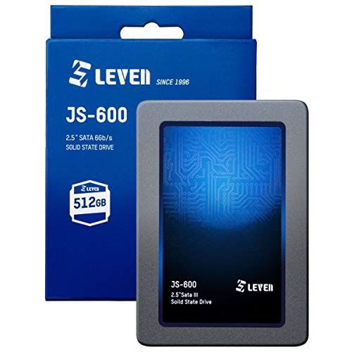 LEVEN SSD 512GB SATA III 6Gb/s, 2.5 Zoll/ 7mm (0.28''), Interne Solid State Drive - bis zu 500 MB/s - passend für Laptop & Desktop – (JS600SSD512GB)