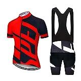 LLYY Conjunto Ropa Ciclismo Hombre Verano Equipacion Ciclismo,Ropa de Ciclismo 20D Gel Pad Shorts Bike Jersey Set Ropa para hombre-A12_s