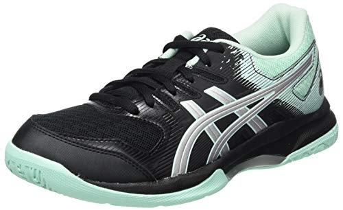 ASICS Womens Gel-Rocket 9 Volleyball Shoe, Black/Fresh Ice,40 EU