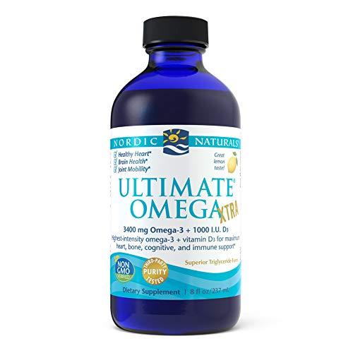 Nordic Naturals Ultimate Omega Xtra, Lemon, 237 Milliliter
