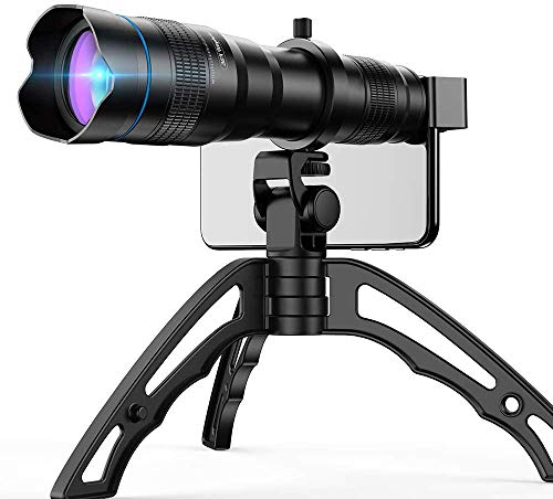 Apexel 36倍HD望遠レンズ 望遠鏡 単眼鏡 三脚付き スマホ用カメラレンズ クリップ式 調整可能レンズ iPhone /Androidスマートフォンに適しています。