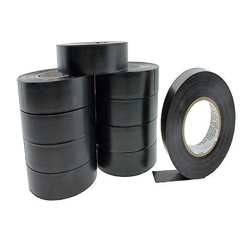 WXH 10 STÜCKE Schwarzes PVC-Isolierband Sichere Kabelbinder, beständiger Klebstoff, 25 m * 17 mm, -18 bis 105 Grad für Elektriker/Kfz-Anwendungen,S