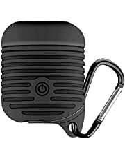 Tsryrlr Airpods Case,Airpod Silicone Skin Cases Cover, Full Potective Waterproof Durable Shockproof Drop Proof with Keychain Compatible with Apple Airpods 2 & 1 Charging Case,Airpods Accesssories