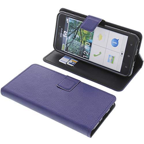 foto-kontor Tasche für Emporia Smart 3 Book Style blau Schutz Hülle Buch