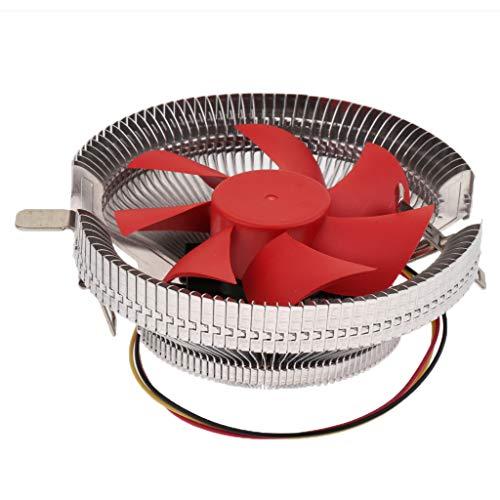 H HILABEE Refrigerador de CPU del Radiador del Ventilador de Refrigeración de La Caja de La Computadora de 9cm para Intel LGA 775 1156 AMD