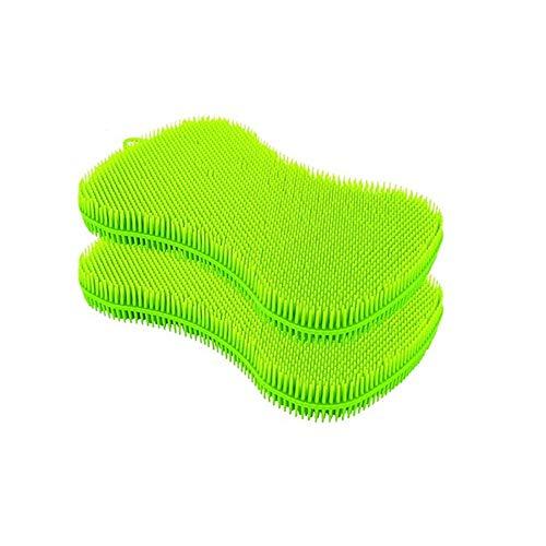 URSMART Silicone Dish Sponge, Cleaning Sponges,Dish Washing Brush-Free Dishwashing Better Sponges-Household Cleaning Sponges-Washing Brush Scrubber-Smart Kitchen Scrubber (2pcs)