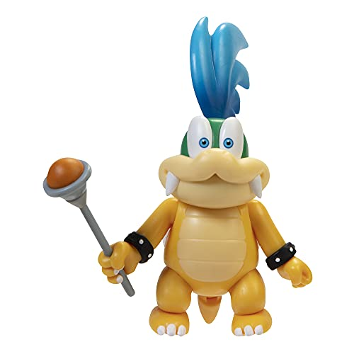 SUPER MARIO Action Figure 4 Inch Larry Koopa Collectible Toy with Wand Accessory