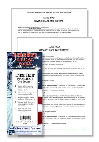 Living Will - Advance Health Care Directive - USA - Do-it-Yourself Legal Form by Permacharts