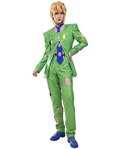 Coskidz Men's Golden Wind Pannacotta Fugo Cosplay Costume Suit Outfit (Large)