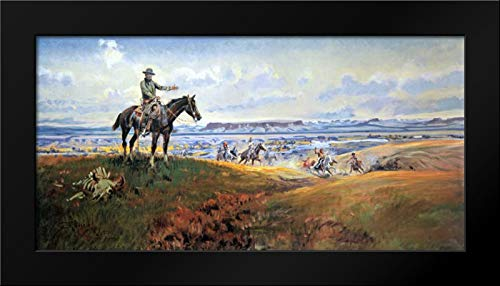 C. M. Russell and His Friends Framed Art Print by Russell, Charles M.