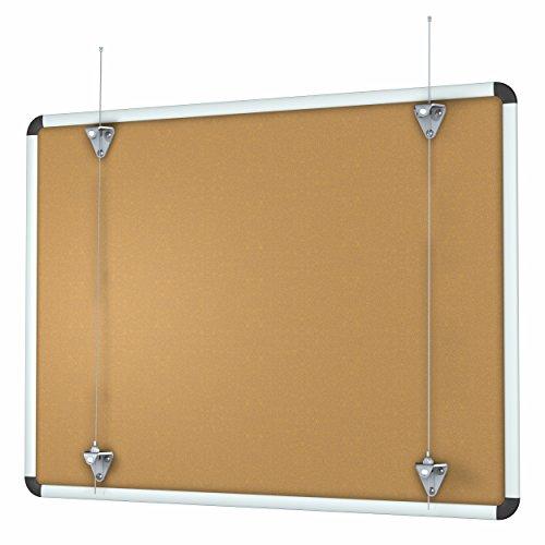 Whiteboard Aufhängung OHNE BOHREN, Aufhänger für Whiteboards / Tafeln / Noteboards / Memoboards / Magnetboards bis 30kg aufhängen