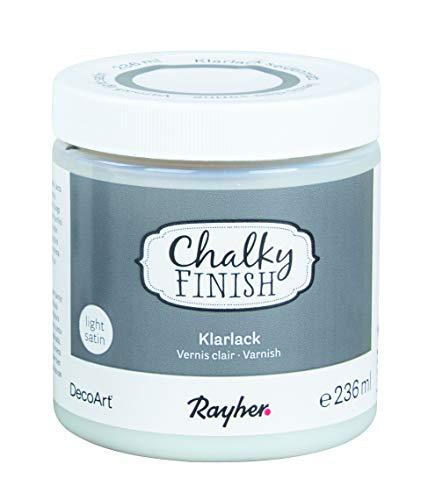 Rayher 38875000 Klarlack seidenmatt, Dose 236 ml, Clear Varnish, Schutzlack zum Versiegeln von Acrylfarbaufstrichen, speichelfest, wetterfest