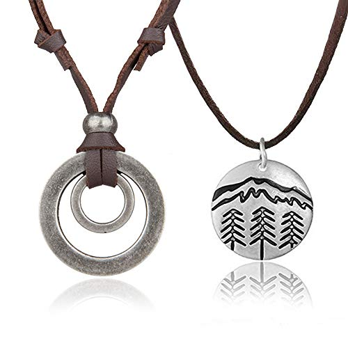 Mountain Necklace for Women Snowy Mountain Necklace Hiking Mountain Peak Necklace for Nature Outdoor Lovers, Skiers, Hikers