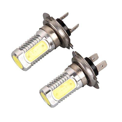 ZGMA 2pcs H4 Automatique Ampoules électriques 7W COB 800lm 5 LED Lampe Frontale White
