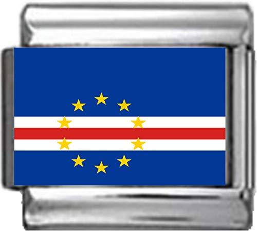 Stylysh Charms PC033 Charm/Anhänger Cap-Verde Flagge Italienisch 9 mm passend für Nomination Classic