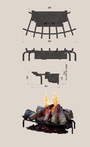 FABER Opti Myst – Rejilla para chimenea (68 cm de ancho)