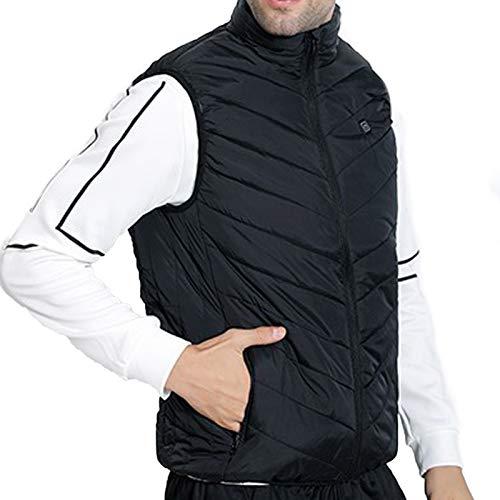 Your New Look Ropa de exterior cálida para esquiar, pescar, cargar sobre 4 abrigos, 11 zonas, chaleco calefactor de carga USB