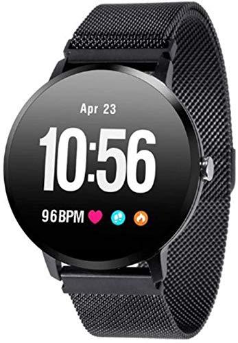 ZHAG Ver Reloj Deportivo Actividad Rastreador Reloj de pulsos Paso Contador Impermeable SmartWatch Fitness Tracker, con 1.3'Monitoreo de suspensión táctil Completo para iOS Android,Black1