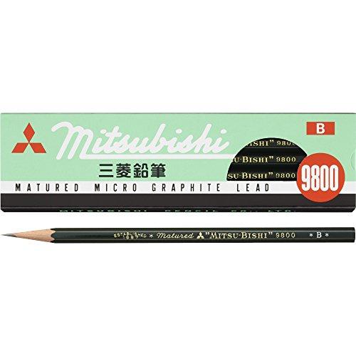 三菱鉛筆 鉛筆 9800 B 1ダース K9800B