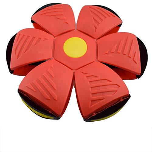 Bola de ovni mágica Deformada Descompresión Platillo volador Bola de ventilación Frisbee Deformado Ball Padre-Niño Juguetes Juegos de Playa Regalo de Deportes al aire libre (rojo)