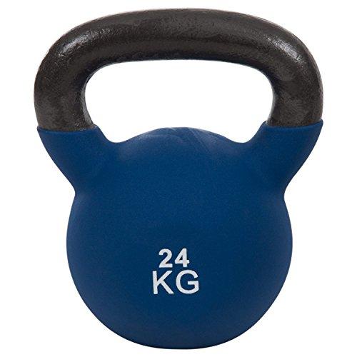 Sport-Tec Kettlebell, Kugelhantel, Kugelgewicht, Kraftsport, Hantel, Fitness, 24 kg, Blau