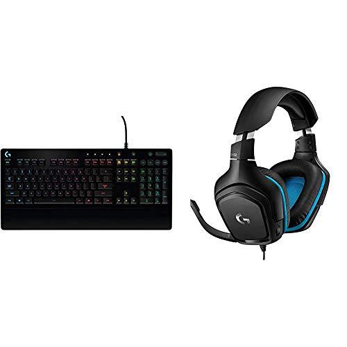 Logitech G213 Prodigy Gaming-Tastatur, RGB-Beleuchtung, Programmierbare G-Tasten + Logitech G432 kabelgebundenes Gaming-Headset, 7.1 Surround Sound, DTS Headphone:X 2.0