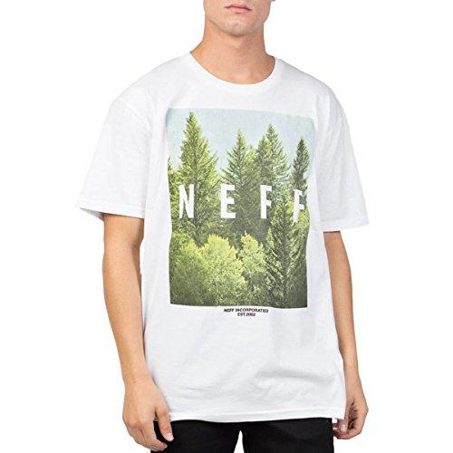 Neff Herren T-Shirt Quad Forest - Weiß - Klein