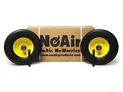 NoAir (2) Flat Free Wheel Assemblies 13x5.00-6 Fits John Deere Replaces TCA13769