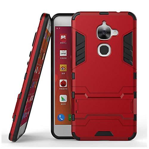 YFHBDJK Handy Fall for LETV LeEco Le 2 Pro X620 Fällen X20 X25 X621 X526 X527 Fall LeEco letv S3 x622 Deckt Hybrid Taschen 5,5 Zoll (Color : Red, Size : PC+TPU)