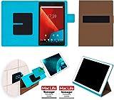 reboon Hülle für Vodafone Tab Prime 7 Tasche Cover Case Bumper | in Braun | Testsieger