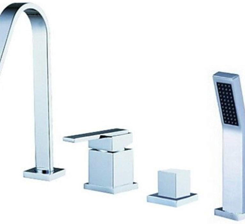 Badezimmer Küchenarmatur, Dusche Wasserhahn Set, Modernes Design Wasserfall-Tülle Einhand-Badewanne Filler Hahn mit Handdusche.