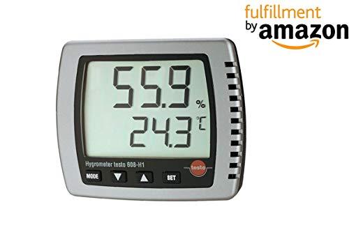 Testo® 608-H1 Digitales Thermohygrometer (Bereich: 0 bis 50 ° C) zusammen mit dem Kalibrierungszertifikat von INSTRUKART
