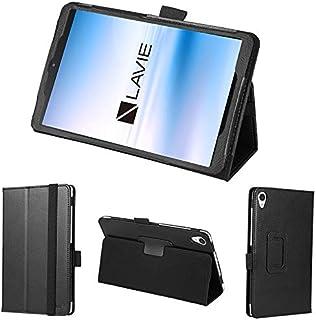 wisers 保護フィルム・タッチペン付き LAVIE Tab E TE708/KAS PC-TE708KAS 8インチ NEC タブレット ケース カバー [2020 年 新型] ブラック