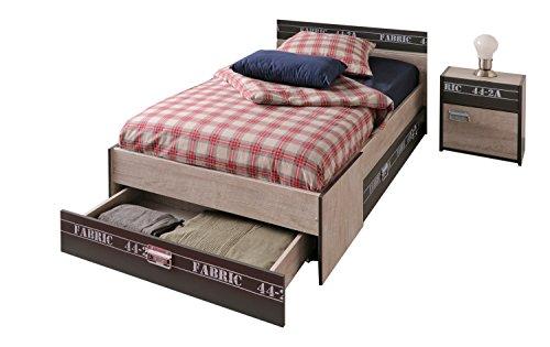 Parisot Bett mit Schubkästen und Nako Fabric 3
