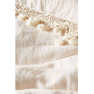 Tasseled Linen Duvet Cover | Anthropologie