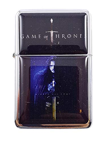 Feuerzeug Star House Jon Snow Game of Thrones nachfüllbar Winddicht Öl Benzin Flip Top
