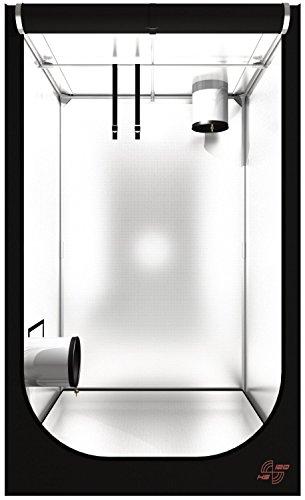 Secret Jardin Hydro Shoot 60 80 100 120 Grow-box Grow-room Growschrank Grow-zelt Darkroom verschiedene Größen Pflanzen-zelt (HS100 100x100x200 cm) Grow Gewächshaus Indoor für Chili Zuchtzelt