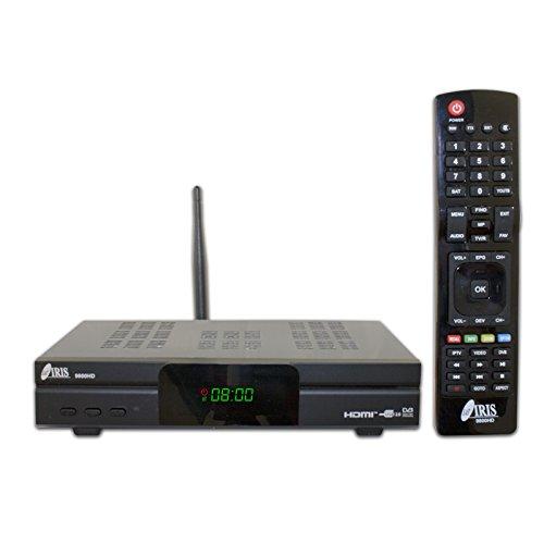 IRIS 9800 HD - Receptor de TV por satélite (Full HD, WiFi) Color Negro
