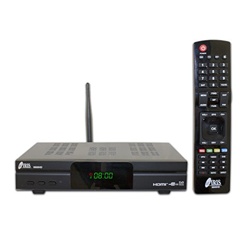 IRIS 9800 HD - Receptor de TV por satélite (Full HD, WiFi)