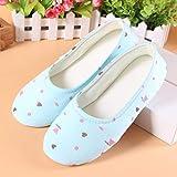 B/H Memory Foam Zapatos,Bolso de Verano de Maternidad de Primavera y Verano con Fondo Suave y Delgado con Zapatillas Antideslizantes para Interiores-Azul_38 / 39,Sandalias para Mujer