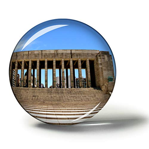 Hqiyaols Souvenir Monumento Histórico Nacional Argentina A La Bandera Rosario Imanes Nevera Refrigerador Imán Recuerdo Coleccionables Viaje Regalo Circulo Cristal 1.9 Inches